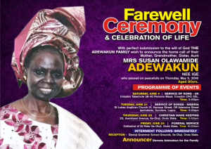 Susan Adewakun Obituary